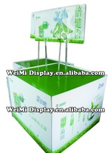 Toothbrush display stand, POP floor supermarket promotion corrugated pallet display, promotion table cardboard display counter