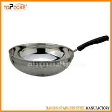 Kitchen cooking stainless steel frying round pan