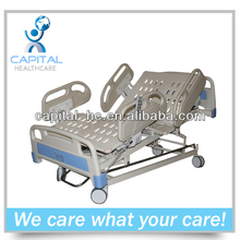 CP-E853 foshan electric five-function icu hospital bed with Central Brakes