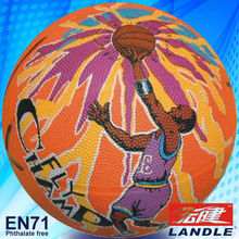 hot sale good new official size wholesale new style rubber made US natural rubber basketball