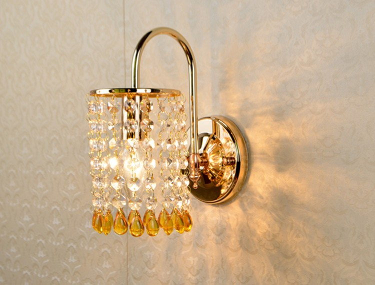 Modern Buleyellow Bead Wall Light K9 Crystal For Bedroom Aisle - Modern-white-interior-house-in-kharkov-by-vladimir-latkin