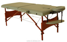 Massage Table With Red Folding Table Leg