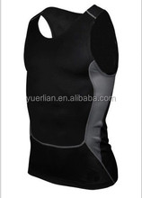 Private label fitness wear,mens compression vest,sports apparel wholesale 1009