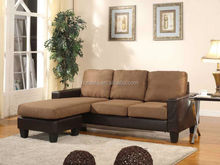 Coffee Small Sectional Sofa, Factory made Sectional Sofa, Small Sectional Sofa with Chaise F211