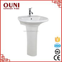 ON-065 Best supply stain resistant italian bathroom pedestal wash basin