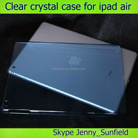 Tablet case smart cover companion transparent clear crystal case for ipad air ,for ipad case crystal ,for ipad air case