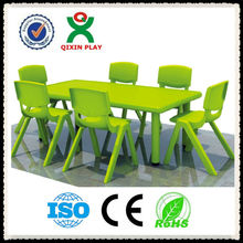 High quality cheap children plastic table and chairs, school furniture set QX-194G