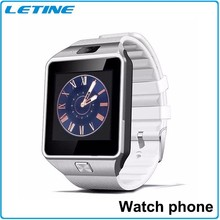Wearable popular DZ09 MTK6260 3GSIM card smart watch touch screen China Android 4.4 for Samsung peble steel wholesale with ce