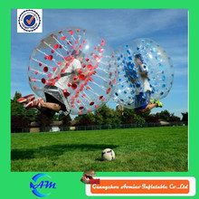 Human bubble ball color dots human bubble suit in red and blue inflatable toy for sale