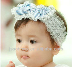 canvas lace infant headband