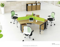 2015 new fashion design workstation office used for 3 person
