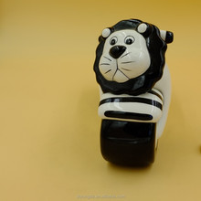 China children gift customized motorcycle shape ceramic coin bank