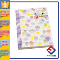 Free sample customized a4 a5 a6 sized beautiful hardcover notebook