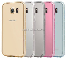 For samsung galaxy s6 clear tpu case Crystal Clear Transparent Soft Silicon 0.6mm TPU Case for S6 Cases Cover for S6