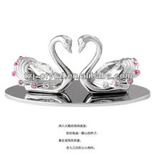 unique crystal couple swans wedding pair of swan crystal swan gift