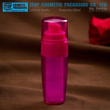ZB-TP30 30ml ultra low price good quality airless pump cosmetics 1oz glass airless pump bottle