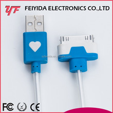 Smartphone PVC 25 pin charger usb cable for iphone5
