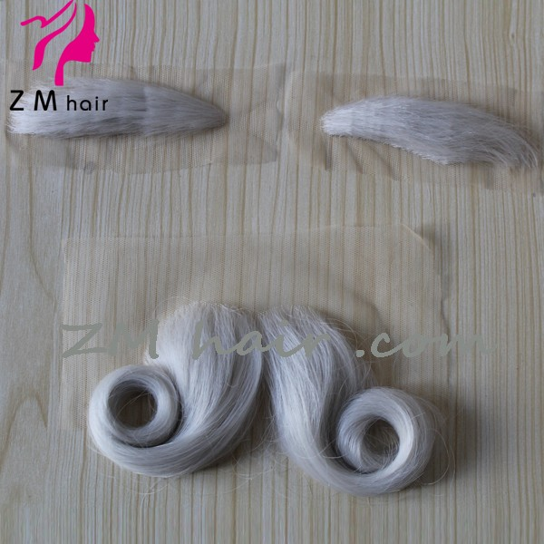Alibaba Wholesale Synthetic Hair Fake Santa Claus Lace Moustache And