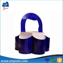 Wholesale special design carrier 6 bottle cardboard wine box