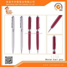 Hot Pink Laser Engraved Logo Metal Pen Va-1156