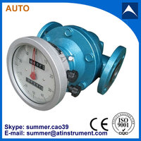 Smart type 16bar pressure oval gear flwo meter/PD flow meter made in China