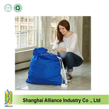 Nylon Drawstring Laundry Bag With Shoulder Straps