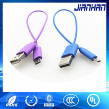 chinese factory new type design colorful ultra slim usb 2.0 micro cable for Samsung mobile