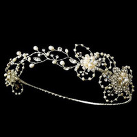 Handmade bridal hair accessories wedding hair jewelry rhinestone pearl tiaras and crowns