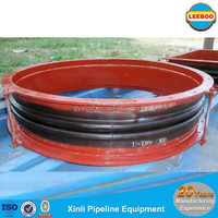 Steam duct rubber expansion joint with flange type connection