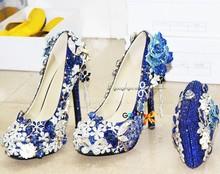new fashion handmade 2015 new design black crystal high heels
