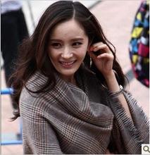 The same paragraph 2012 new female line Mori Yang Mi large shawl fringed edges Fashion Plaid Scarf scarves eldest daughter