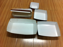 Recycle high quality food grade paper boat tray
