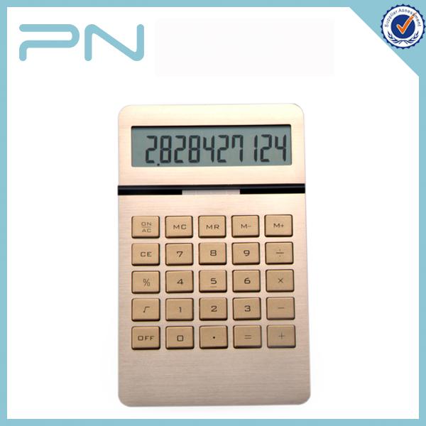 Pn-206010桁アルミつや消しアルミニウム表面付き電卓