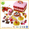 Online selling fruit box play house wooden kitchen toys