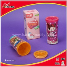 Lovely cartoon printing collapsible promotional water bottle for kids