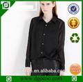 negro de la moda blusa de gasa sexy modelos abierto de nuevo diseño sexy blusa