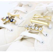 2015 Latest design elegant gold plated rhinestone decorative shoe buckles