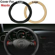 Auto Genuine Leather Car Steering Wheel Cover For Mazda 2 3 5 6 8 CX-5 CX-7 CX-9 MX-5 CX-5 ATENZA Axela