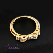 Fashion 3 Color 3 Circle Plain Ring 18K Gold Rose Golden Plated Ring European Jewelry Female Bijoux Wholesale butterfly shape