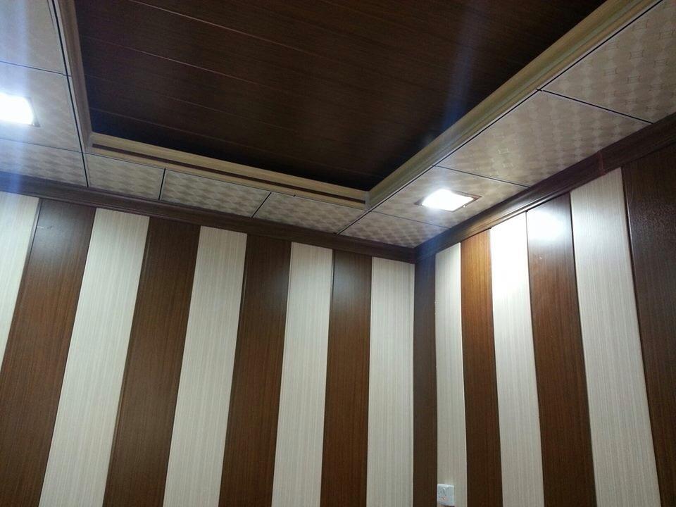Les faux tanche plafond en lambris de pvc et panneaux for Faux plafond salle de bain pvc