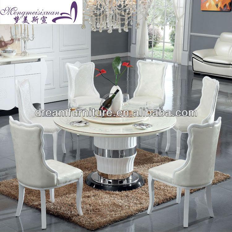 moderne runde marmor esstisch wei e farbe marmor esstisch. Black Bedroom Furniture Sets. Home Design Ideas