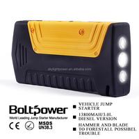 High performance emergency Jump Starter 12v gasoline vehicle jump starter durable christmas hot gift portable power bank