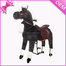 New arrivals motorized plush riding animals, plush motorized animals
