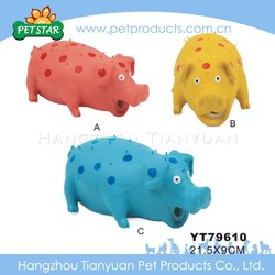 2015 New Low Price Latex Pig Shaped Pet Toy with Squeaker