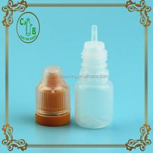 FDA Model e juice oil bottle pe 5ml childproof &tamper evident cap