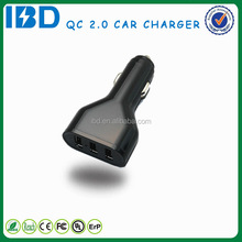 IBD new design factory price wholesale 5v 3a usb car charger adapter for phone