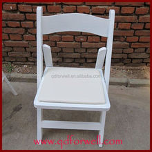 Non toxix finished good sale cheap price folding chair for morden for Party/Wedding.
