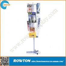Aluminum bestart deco magazine rack rotate file holder