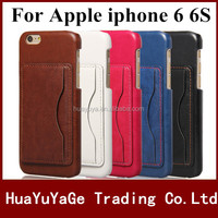 Free shipping phone cases PU Leather Full Frame Card Slot bag Wallet back stand Case for Apple iphone 6 6S