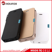 Double Output Power Bank Case For Iphone 5 5S With Protective Circuit For Iphone 5 Battery Case Slim With Flip Cover